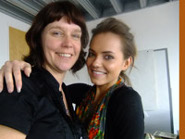 Claire Salter and Kara Tointon